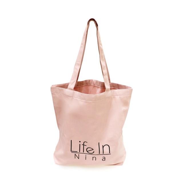 Life In Nina ロゴトート 大 / PINK
