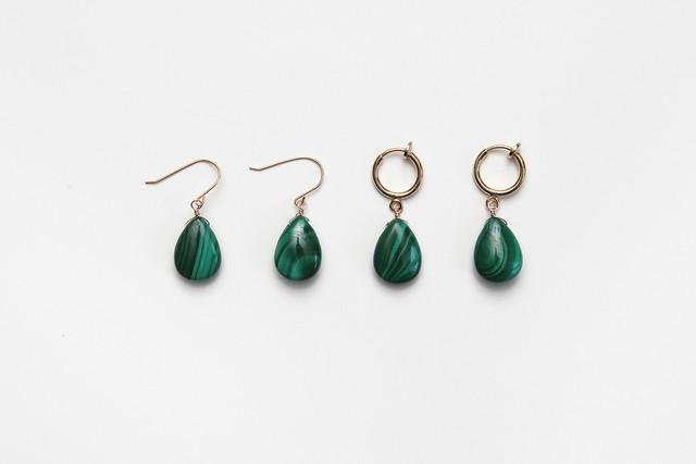 marble stone fook & earring