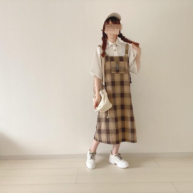 check jumper skirt[6/17n-46]