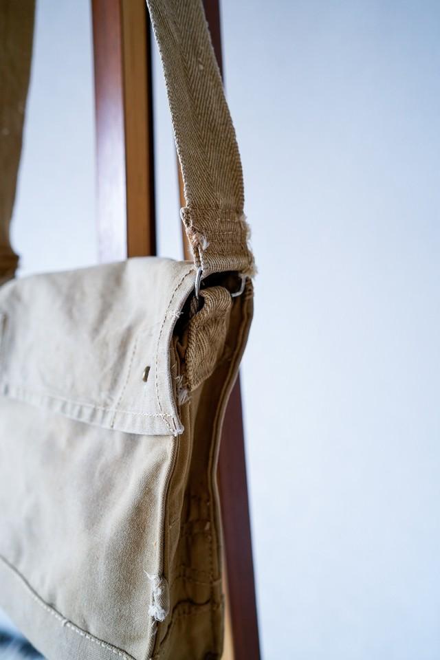 """【1940s】""""British Army"""" Gas Mask Bag / v632y"""