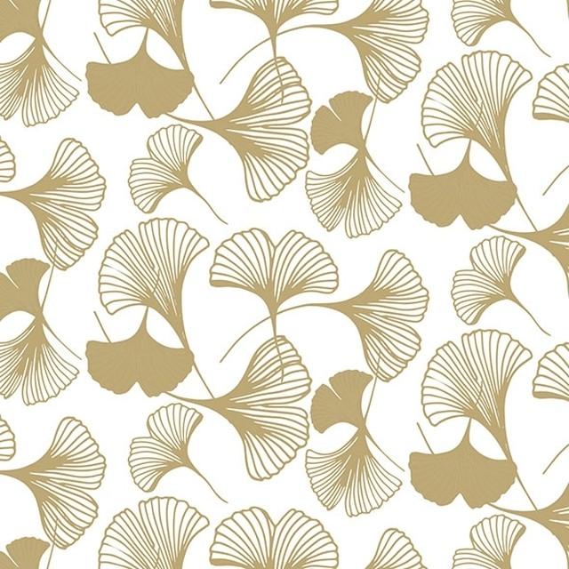入荷しました|2020春夏【Ambiente】バラ売り2枚 ランチサイズ ペーパーナプキン GINGKO ゴールド