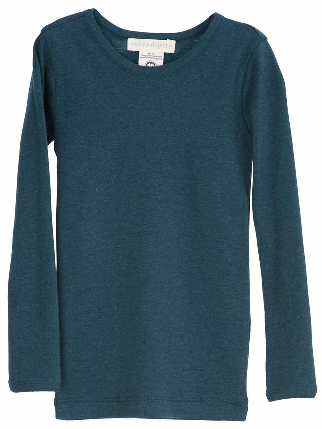 serendipity ORGANICS アトランティックブルー ロングTシャツ(長袖) オーガニックコットン