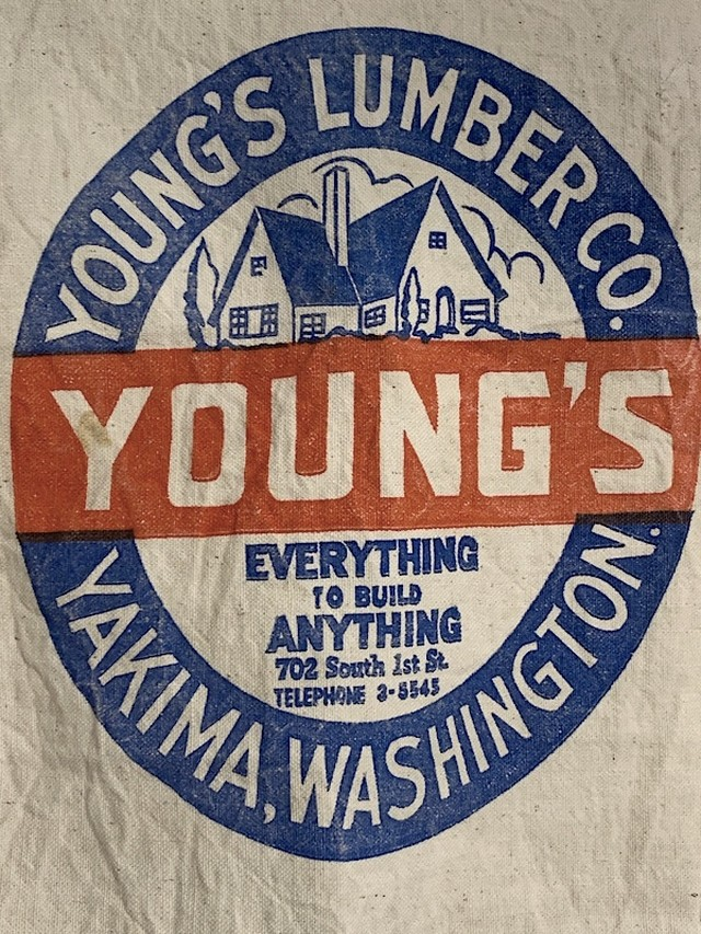 "WORK APRON "" YOUNG'S LUMBER CO. """
