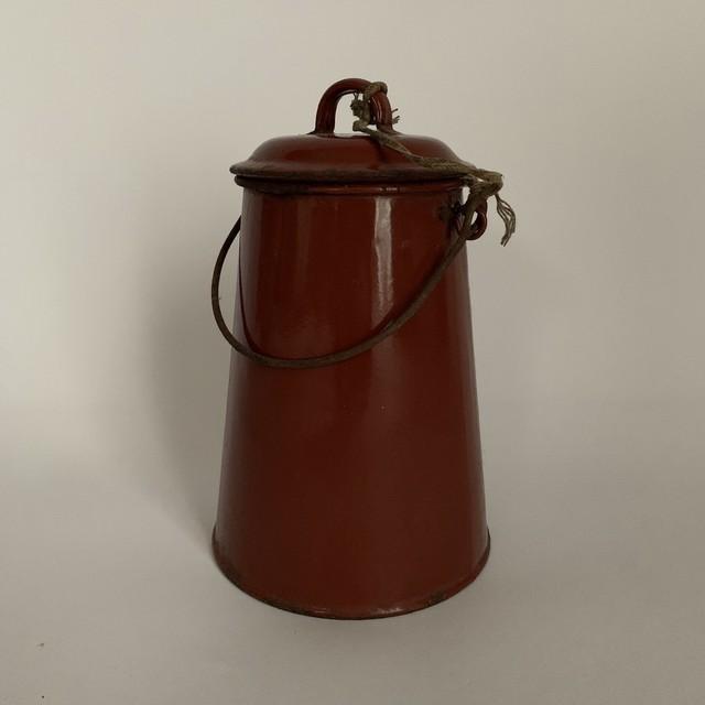Vintage Enamel Milk Pot _01(フランス製 ヴィンテージ琺瑯ミルクポット)