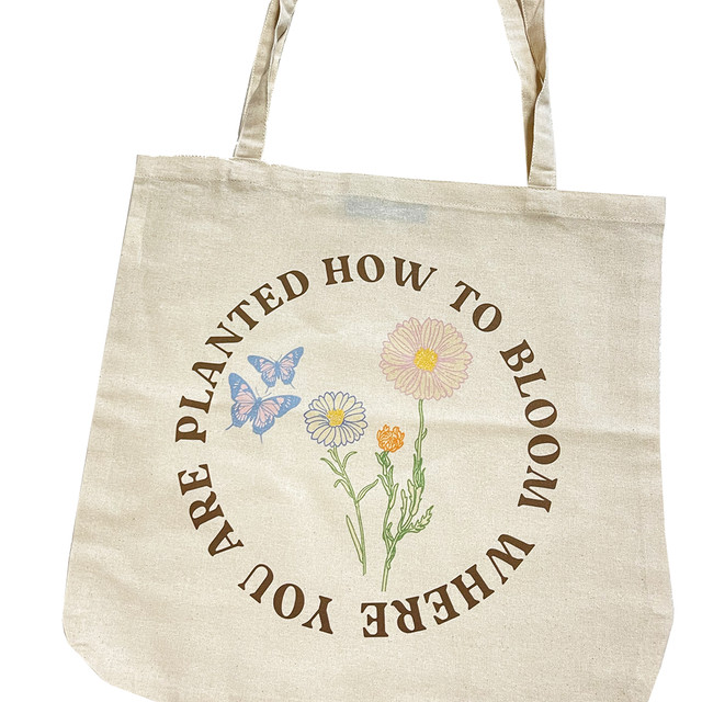 【Cat & Parfum】How to Bloom Where You Are Planted Cotton Round Bag