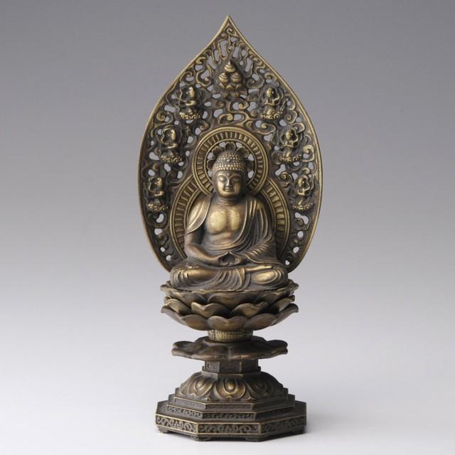 《鋳物製仏像》釈迦如来座像