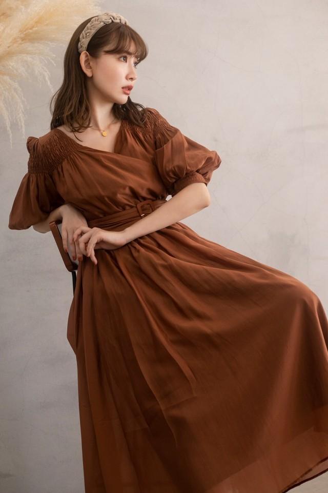 Airy Volume Sleeve Dress【新色】