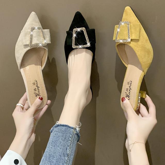 【shoes】パンプスリベットセクシーエレガントオシャレポインテッドトゥミドルヒール