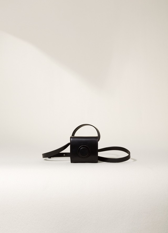 LEMAIRE MINI CAMERA BAG Black X 203 AC312 LL071