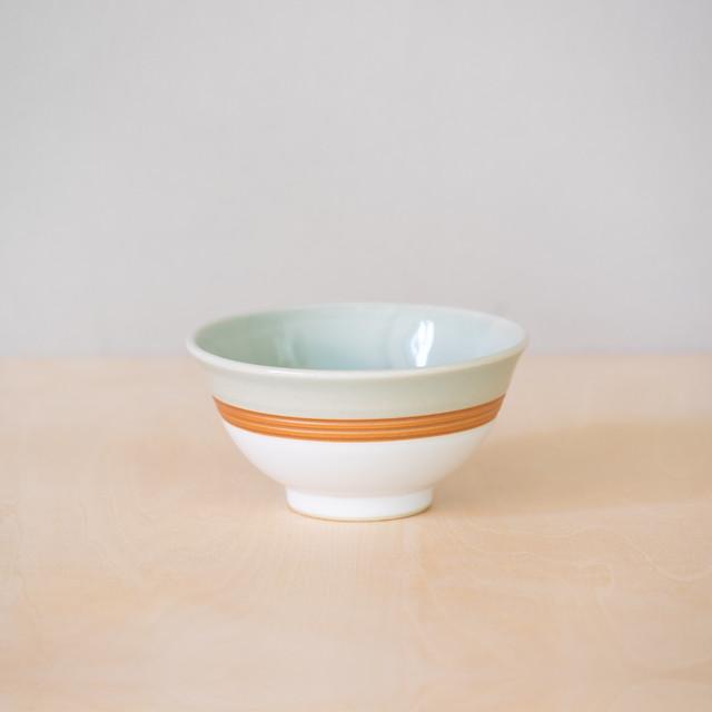 青白掛分 茶碗(小)
