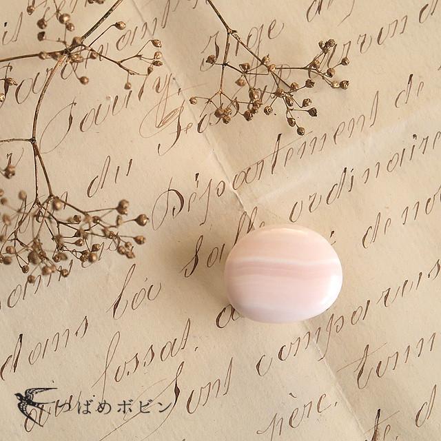 天然石の帯留 ◎ピンクカルサイト/C
