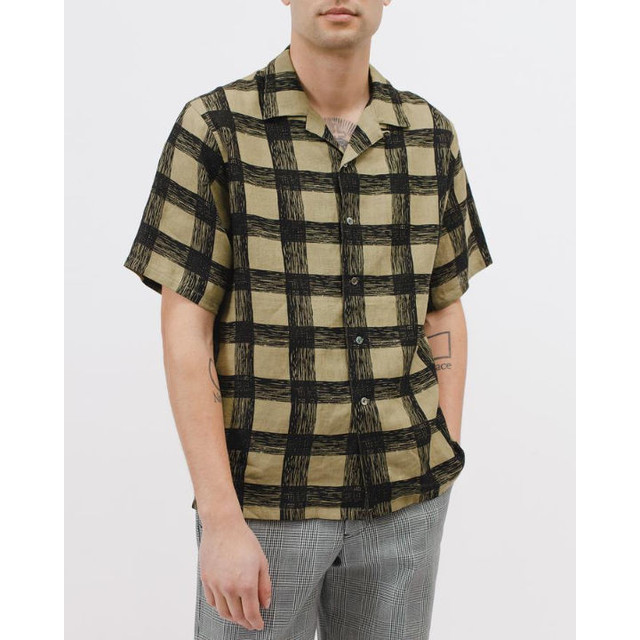 MAIDEN NOIR BRUSH LINEN SS SHIRT OLIVE