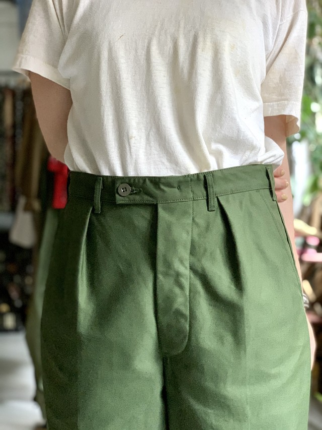 70's  Swedish army utility trousers D.STOCK
