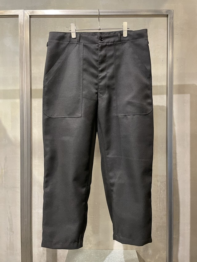 T/f G5 polyester twill baggy pants - black