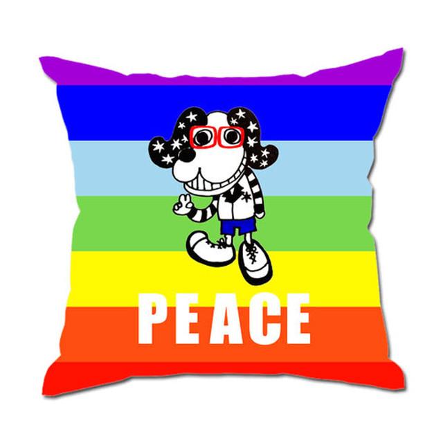 ◆クッション&カバーセット 45cm×45㎝◆ PEACE