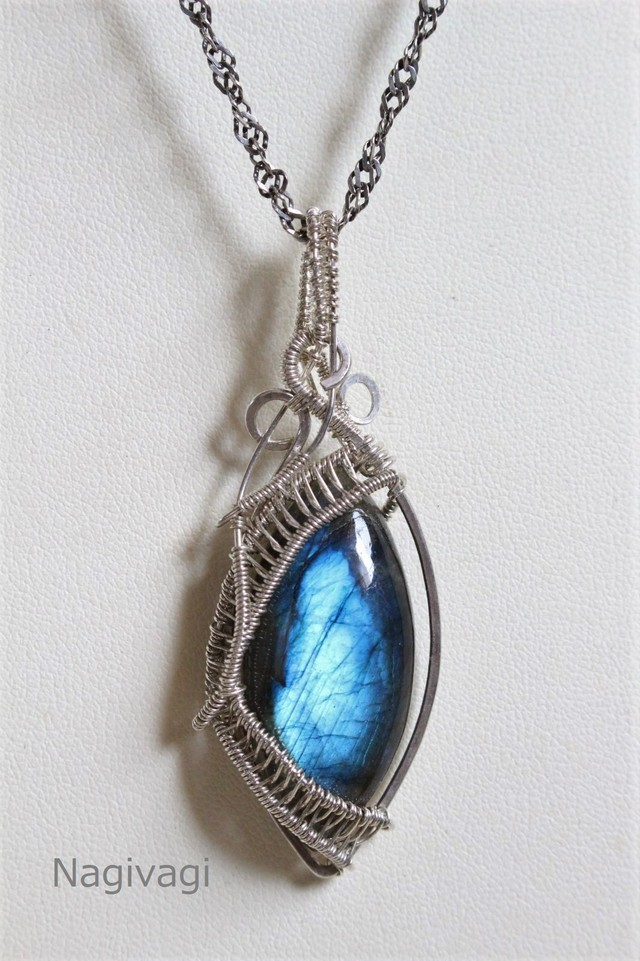 Labradorite silver925 wirewrapping pendant