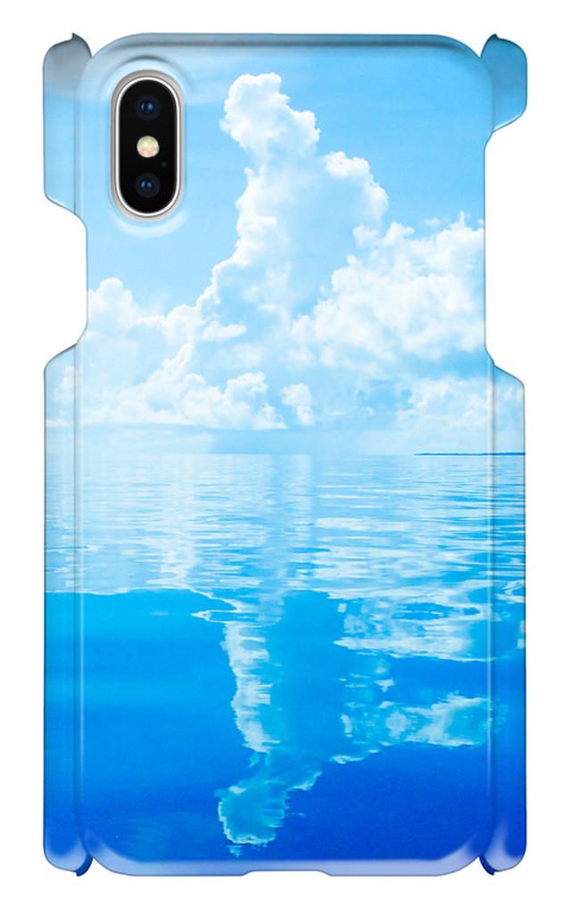 iPhoneX 印刷ケース 海 空 波 オリジナルケース iphone 画像印刷 自然 青空 リゾート 旅行 景色 風景