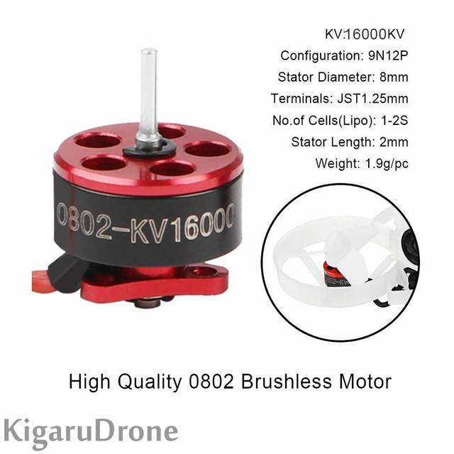 【モーター1個売り】Happymodel SE0802 25000KV 1-2S ブラシレスモーター1個