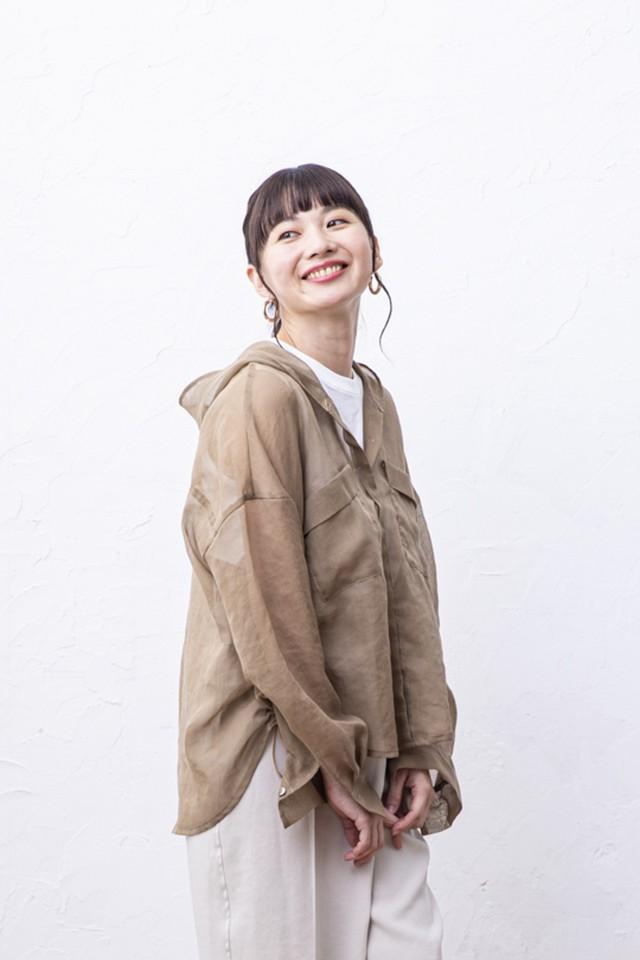 シアーフードシャツ <MOCA>
