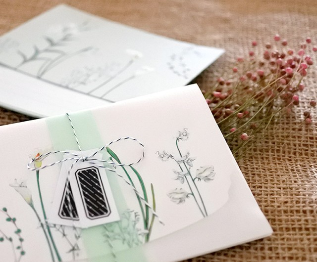 白い花たちのレターセット
