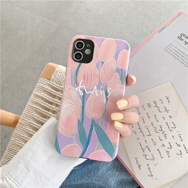 Oil art tulip iphone case