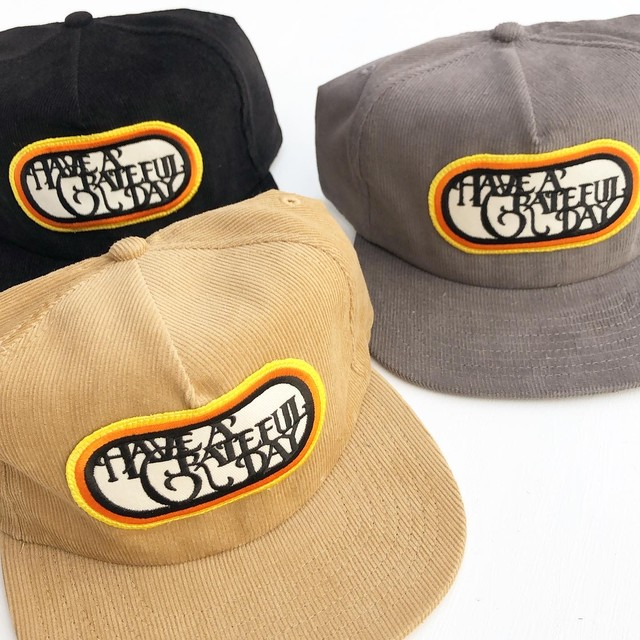 "Have a Grateful Day ""Corduroy Cap SF Logo"""