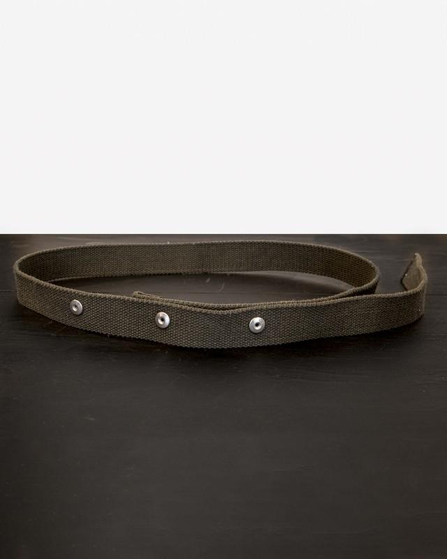 TrAnsference dot button canvas belt - olive