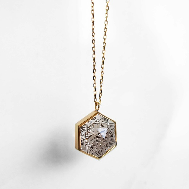 Smoky Quartz KIRIKO Necklace (Hexagon)