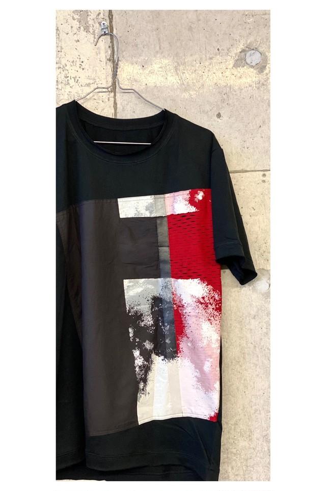 men's KABUKU Tシャツ[着るアート]WEARABLE  ART KABUKU T-shirt red [送料/税込]