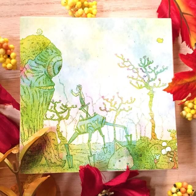 絵画 インテリア アートパネル 雑貨 壁掛け 置物 おしゃれ イラスト ロココロ 画家 : 志摩飛龍 作品 : もりのともだち