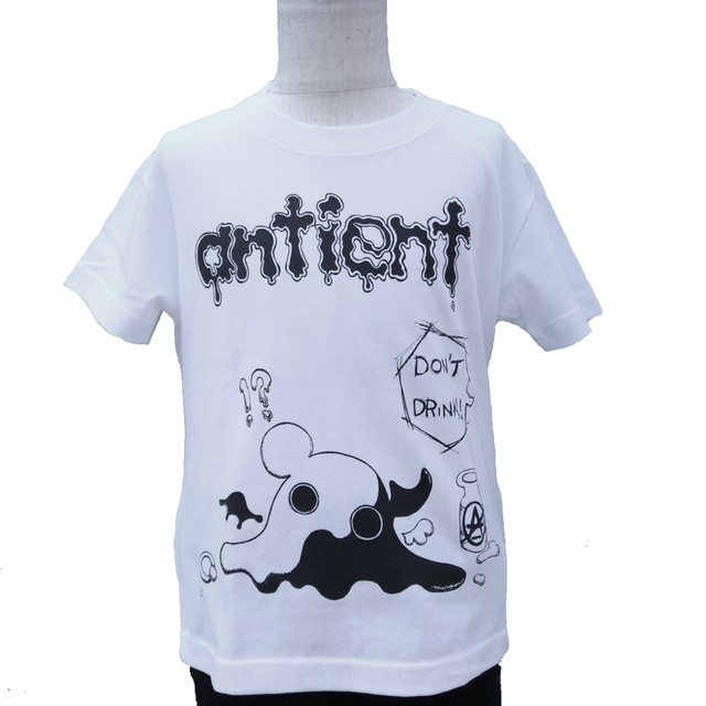 【antient】Don't drink Tee WHITE-KIDS-