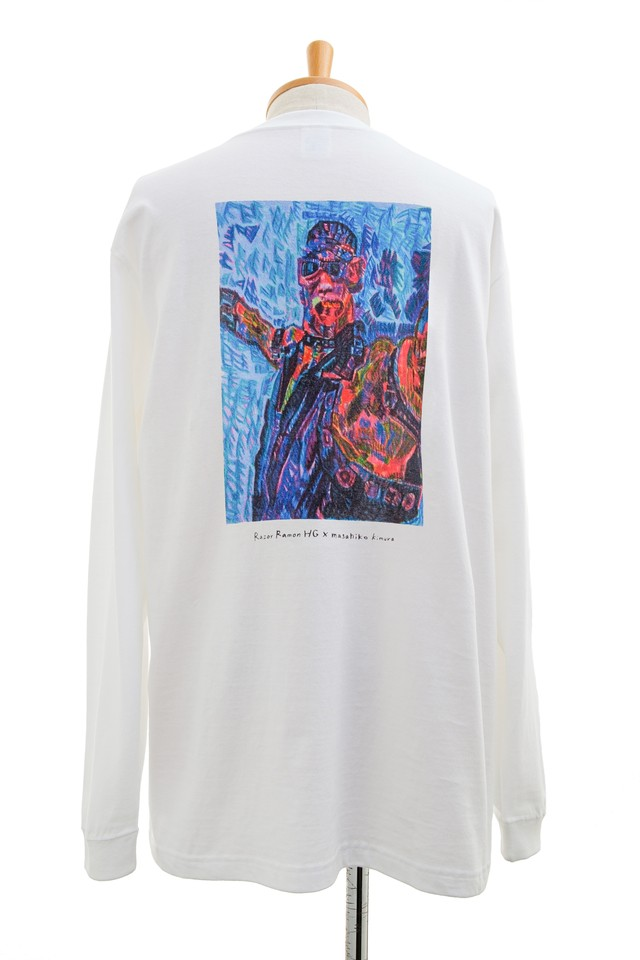 【HG × Masahiko Kimura】ロングスリーブTシャツ ホワイト