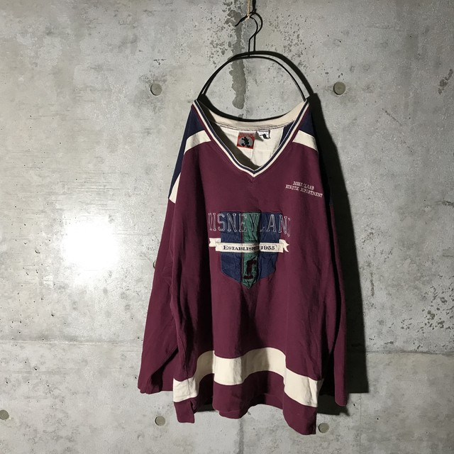 [used]Disney wine red sweat