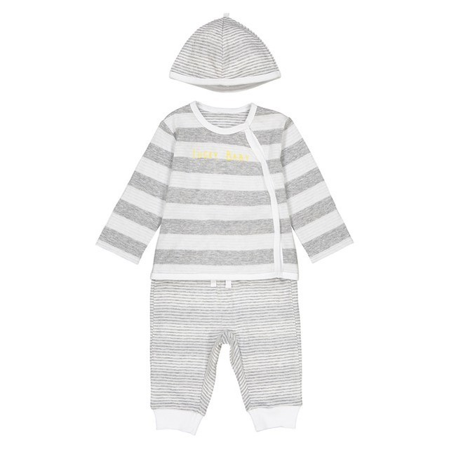 La Redoute Grey marl + white 3-Piece Outfit