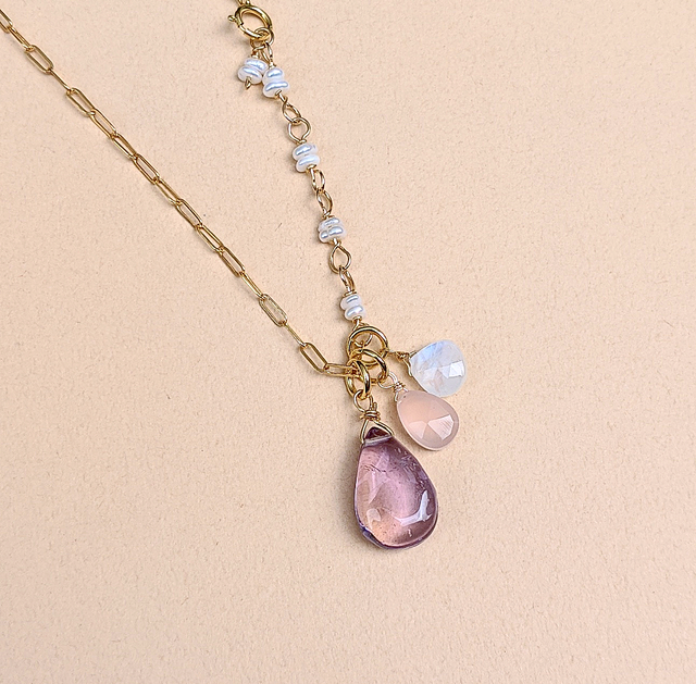 Ametrine & moonstone necklace | MIHO meets RUKUS
