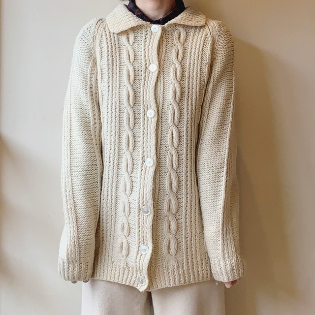 vintage wool knit cardigan