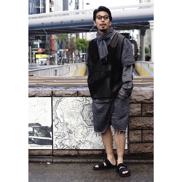 SASHIKO LINEN PREMIUM GANDHI SHORTS