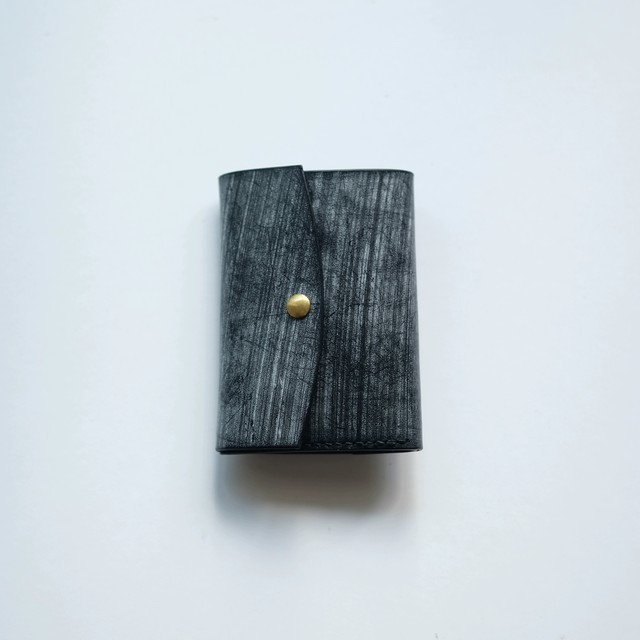 limited  tri-fold wallet - ブライドル -  bridle leather - bk