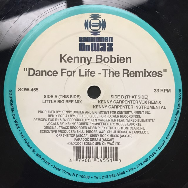 Kenny Bobien ‎– Dance For Life (Remixes)