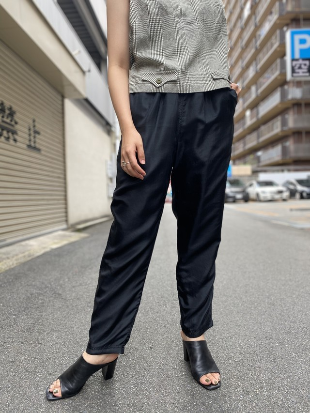silk easy tapered pants