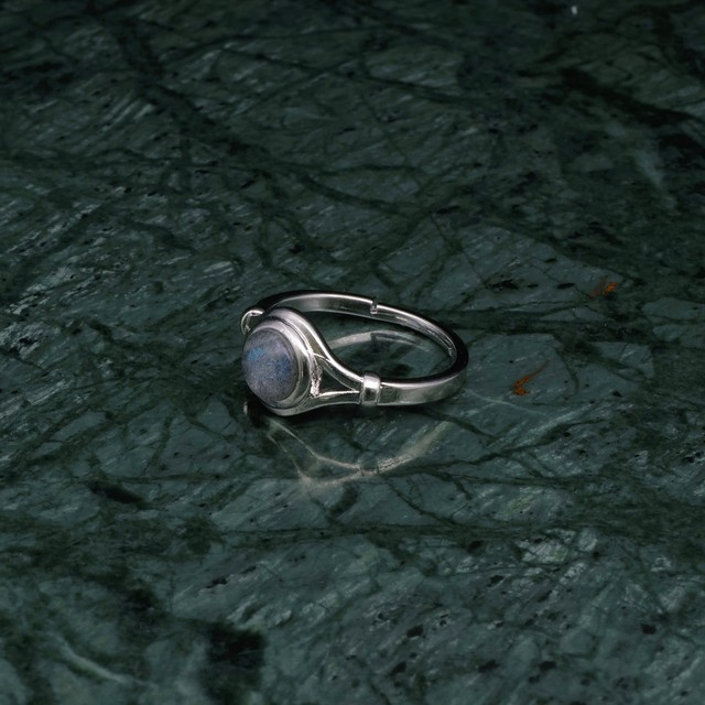 SINGLE MINI STONE DECO RING SILVER 002