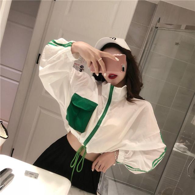 パープルチェックジャケット 韓国ファッション