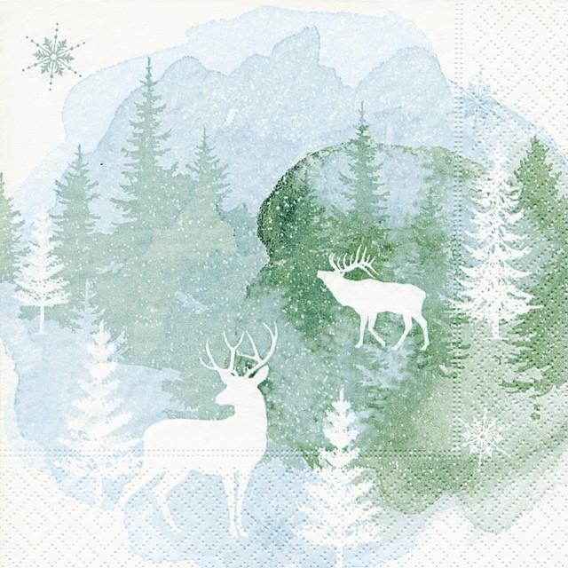 【Paper+Design】バラ売り2枚 ランチサイズ ペーパーナプキン AQUARELL MOOD ホワイト