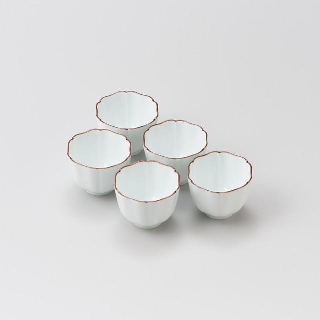 【辻 常陸】渕錆太白 六方割り小鉢(5個揃)