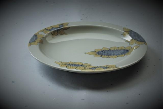 ひまわり7寸リム皿