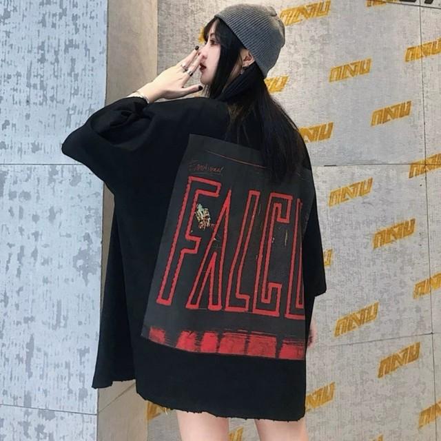 【トップス】ストリートプリントオーバーサイズTシャツ29210772