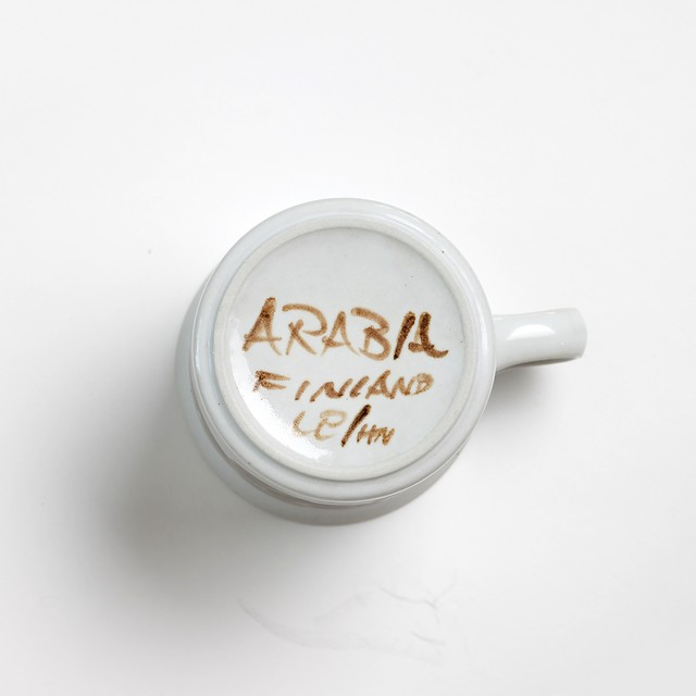 ARABIA アラビア Rosmarin ロスマリン 80mm ラージマグカップ - 6 北欧ヴィンテージ