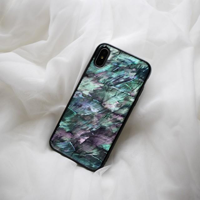 【iPhone11シリーズ対応】本物の自然シェル素材<ナチュラル>カラーデザイン(SPCa0078NT)◆スマホケース/iPhoneケース