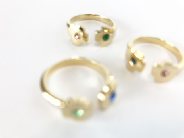 Coquelicot 2way ring [カラー オーダー]