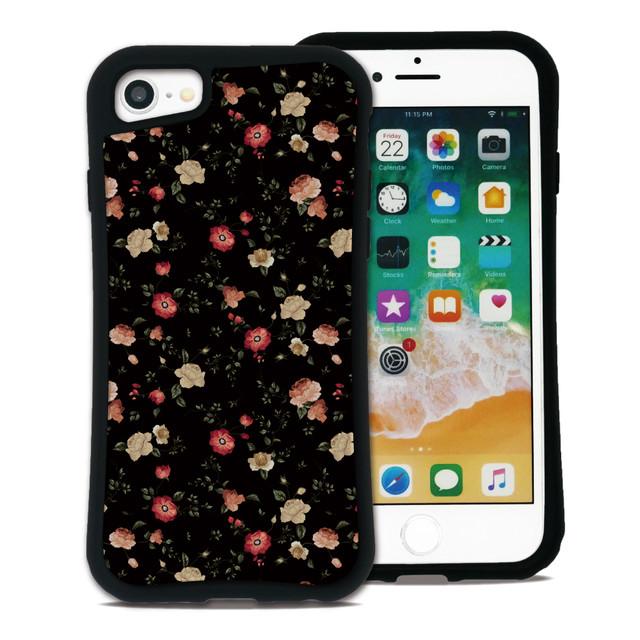 フラワー ブラック セット WAYLLY(ウェイリー) iPhone 8 7 XR XS X 6s 6 Plus XsMax対応!_MK_